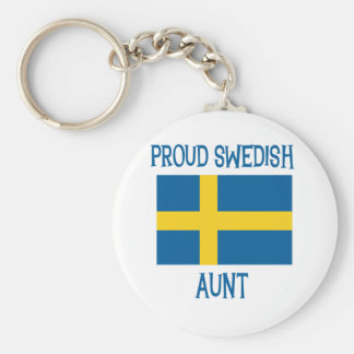 Proud Swedish Aunt Keychains