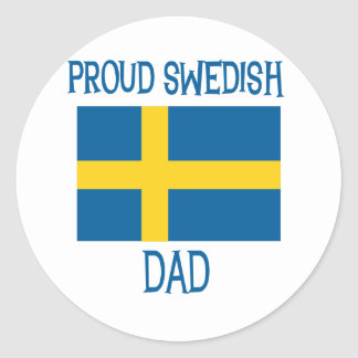 Proud Swedish Dad Classic Round Sticker