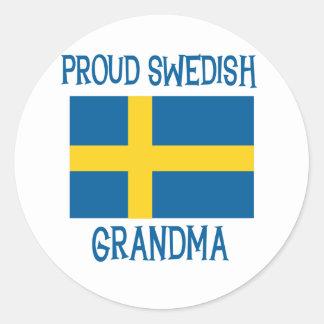 Proud Swedish Grandma Classic Round Sticker
