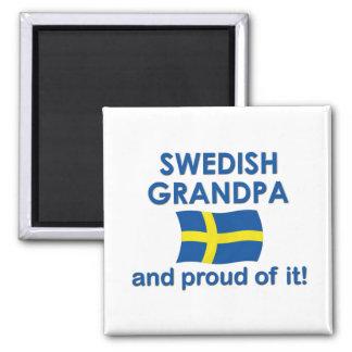 Proud Swedish Grandpa 2 Inch Square Magnet
