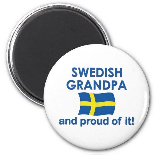 Proud Swedish Grandpa Refrigerator Magnet