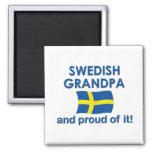 Proud Swedish Grandpa Refrigerator Magnets