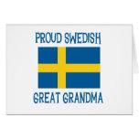 Proud Swedish Great Grandma Card