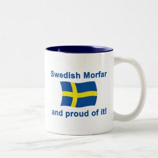 Proud Swedish Morfar (Grandfather) Two-Tone Coffee Mug