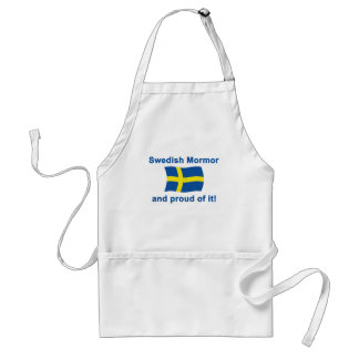 Proud Swedish Mormor (Grandmother) Adult Apron