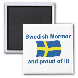 Proud Swedish Mormor (Grandmother) Refrigerator Magnet