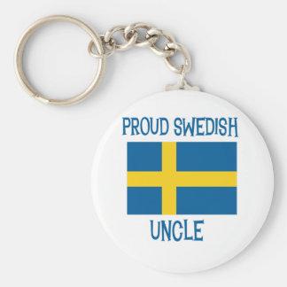 Proud Swedish Uncle Keychain