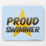Proud Swimmer Mouse Pads