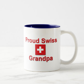 Proud Swiss Grandpa Two-Tone Coffee Mug