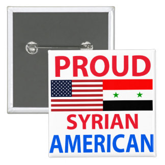 Proud Syrian American Pinback Button