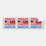 Proud Taiwanese American Car Bumper Sticker