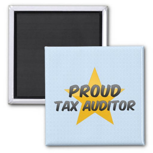 Proud Tax Auditor 2 Inch Square Magnet
