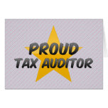 Proud Tax Auditor Cards
