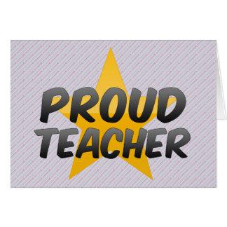 Proud Teacher Greeting Cards