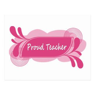 Proud Teacher Modern and Cool Design! Postcard