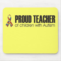 proud teacher of children with autism mousepad