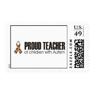 PROUD TEACHER OF CHILDREN WITH AUTISM POSTAGE STAMPS