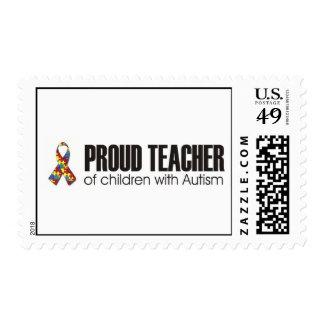 PROUD TEACHER OF CHILDREN WITH AUTISM STAMPS