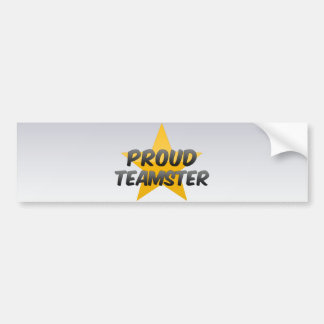 Proud Teamster Car Bumper Sticker
