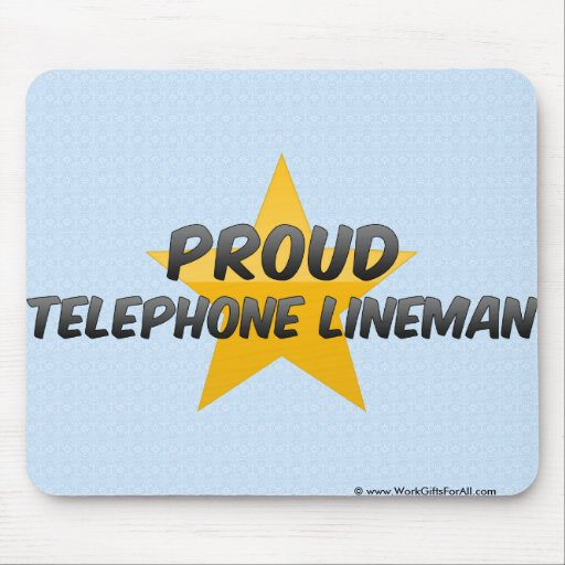 Proud Telephone Lineman Mousepads
