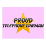 Proud Telephone Lineman Post Card