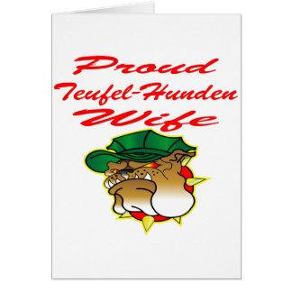 Proud Teufel-Hunden Wife Card