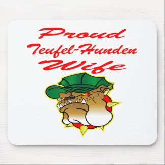 Proud Teufel-Hunden Wife Mouse Pad
