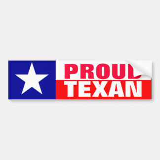Proud Texan Bumper Sticker