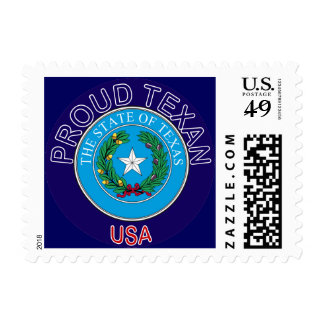 Proud Texan Postage Stamp