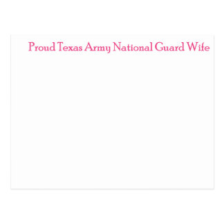 Proud Texas Army National Guard Wife Postcard