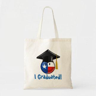 Proud Texas Graduate Smiling Flag Budget Tote Bag