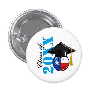 Proud Texas Graduate Smiling Flag Button