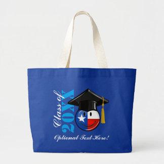 Proud Texas Graduate Smiling Flag Large Tote Bag