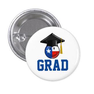 Proud Texas Graduate Smiling Flag Pinback Button