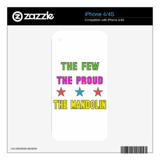 Proud the mandolin. decal for iPhone 4