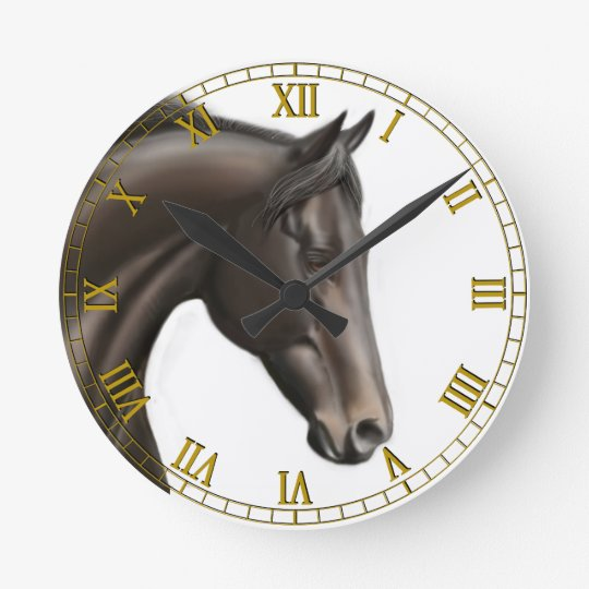 Proud Thoroughbred Horse Wall Clock
