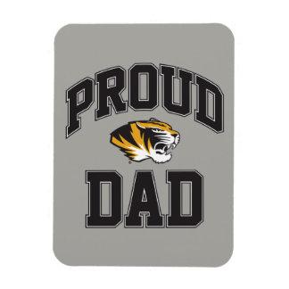 Proud Tiger Dad Rectangular Photo Magnet