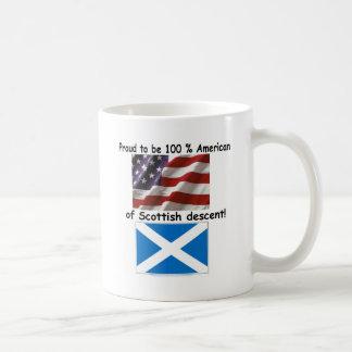 Proud to be 100% American of Scottish Decent Coffee Mug