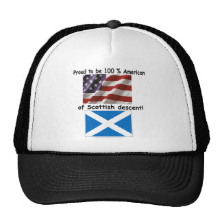 Proud to be 100% American of Scottish Decent Hats