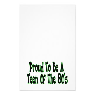 Proud To Be 80 s Teen Custom Stationery