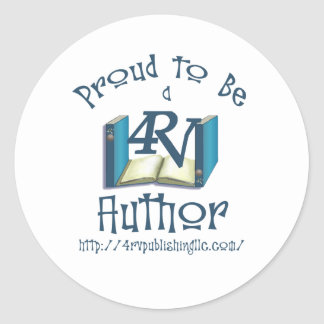 Proud to Be a 4RV Author Classic Round Sticker