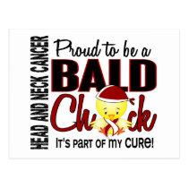 Proud To Be A Bald Chick Head Neck Cancer Postcard