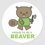 Proud To Be A Beaver Classic Round Sticker