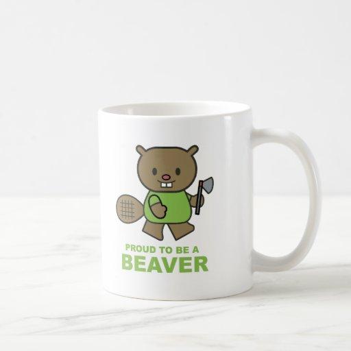 Proud To Be A Beaver Classic White Coffee Mug