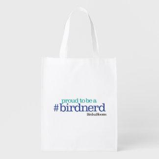Proud to be a bird nerd grocery bag