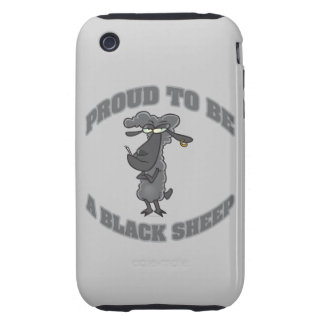 proud to be a black sheep iPhone 3 tough covers