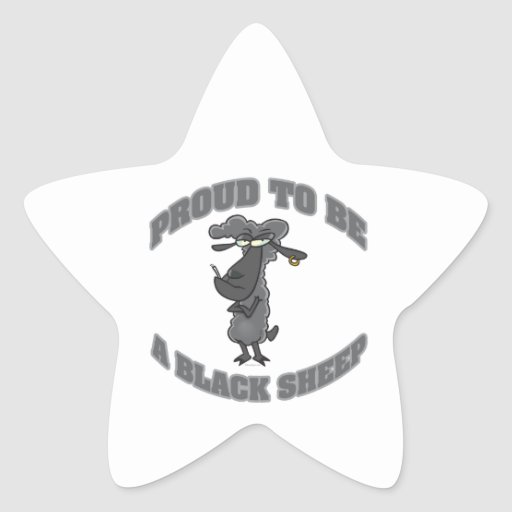 proud to be a black sheep star sticker