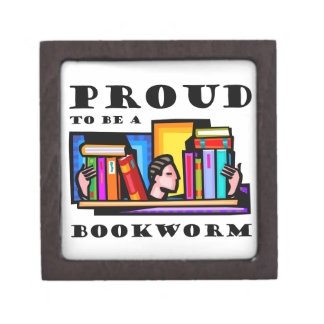Proud to be a bookworm. Book lover among books Jewelry Box
