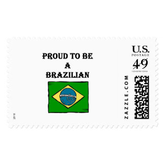 Proud To Be A Brazilian Stamp