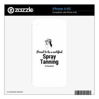 Proud to be a certified Spray Tanning Professional Skin For iPhone 4S